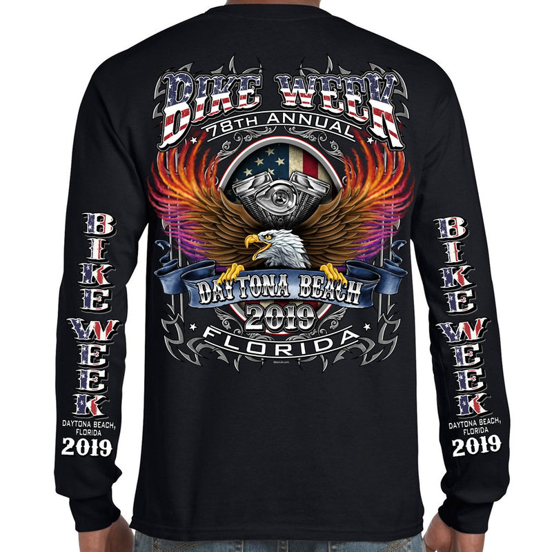 2019 Bike Week Daytona Beach B-Strong Long Sleeve Shirt