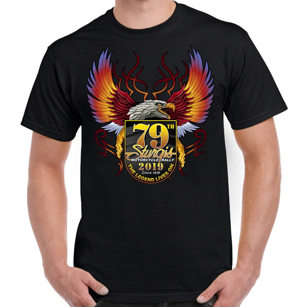 2019 Sturgis Black Hills Rally Official Cross Eagle T-Shirt