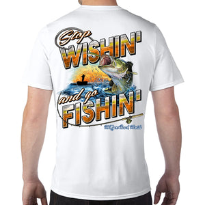 Ft. Myers Beach, FL Stop Wishin', Go Fishin' Performance Tech T-Shirt