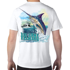 Palm Beach, FL Big Game Fishing Performance Tech T-Shirt
