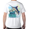 Sanibel Island, FL Big Game Fishing Performance Tech T-Shirt