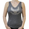 Ladies Live to Ride Eagle Rhinestone Flowy V-Neck Tank