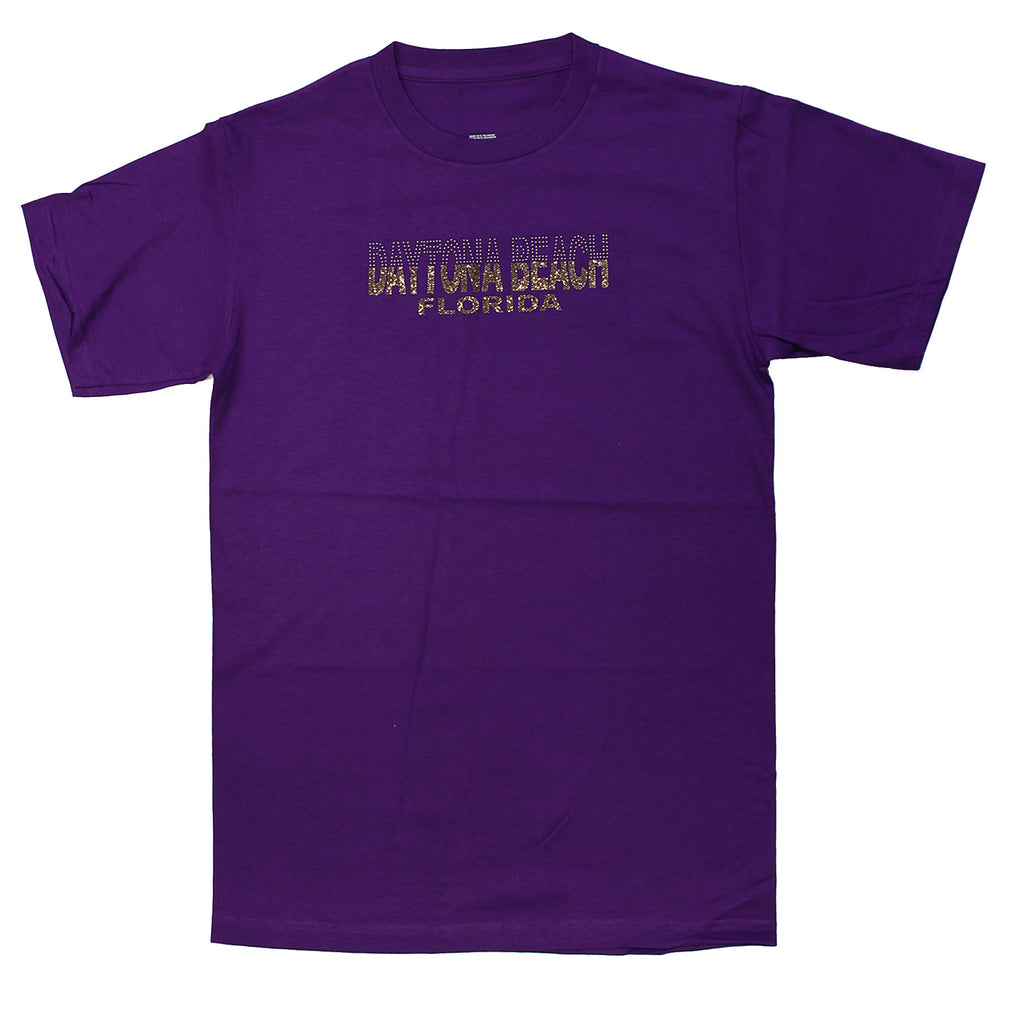 Daytona Beach, FL Gold Glitz and Rhinestones T-Shirt