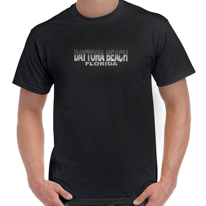 Daytona Beach, FL Silver Glitz and Rhinestones T-Shirt