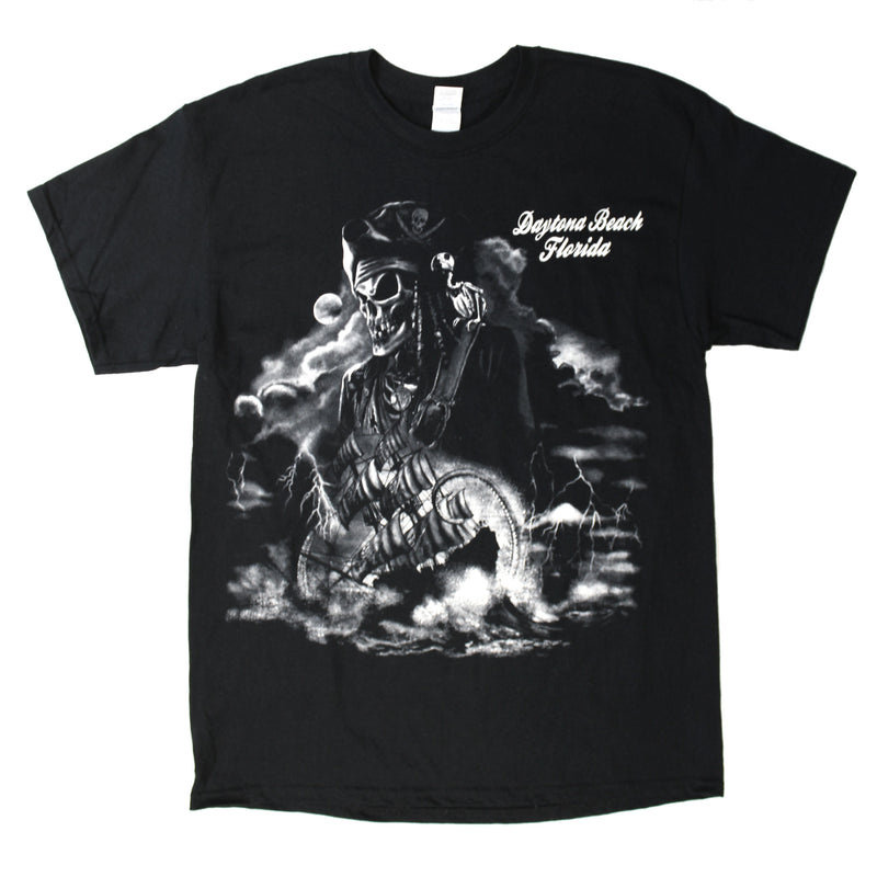 Daytona Beach, FL Skeleton Pirate T-Shirt