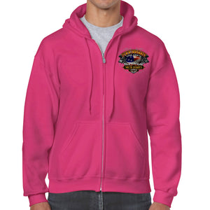 2019 Sturgis Black Hills Rally Rebel Rider Zip-Up Hoodie