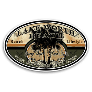 "Lake Worth Beach, FL Lifestyle 4"" Sticker"