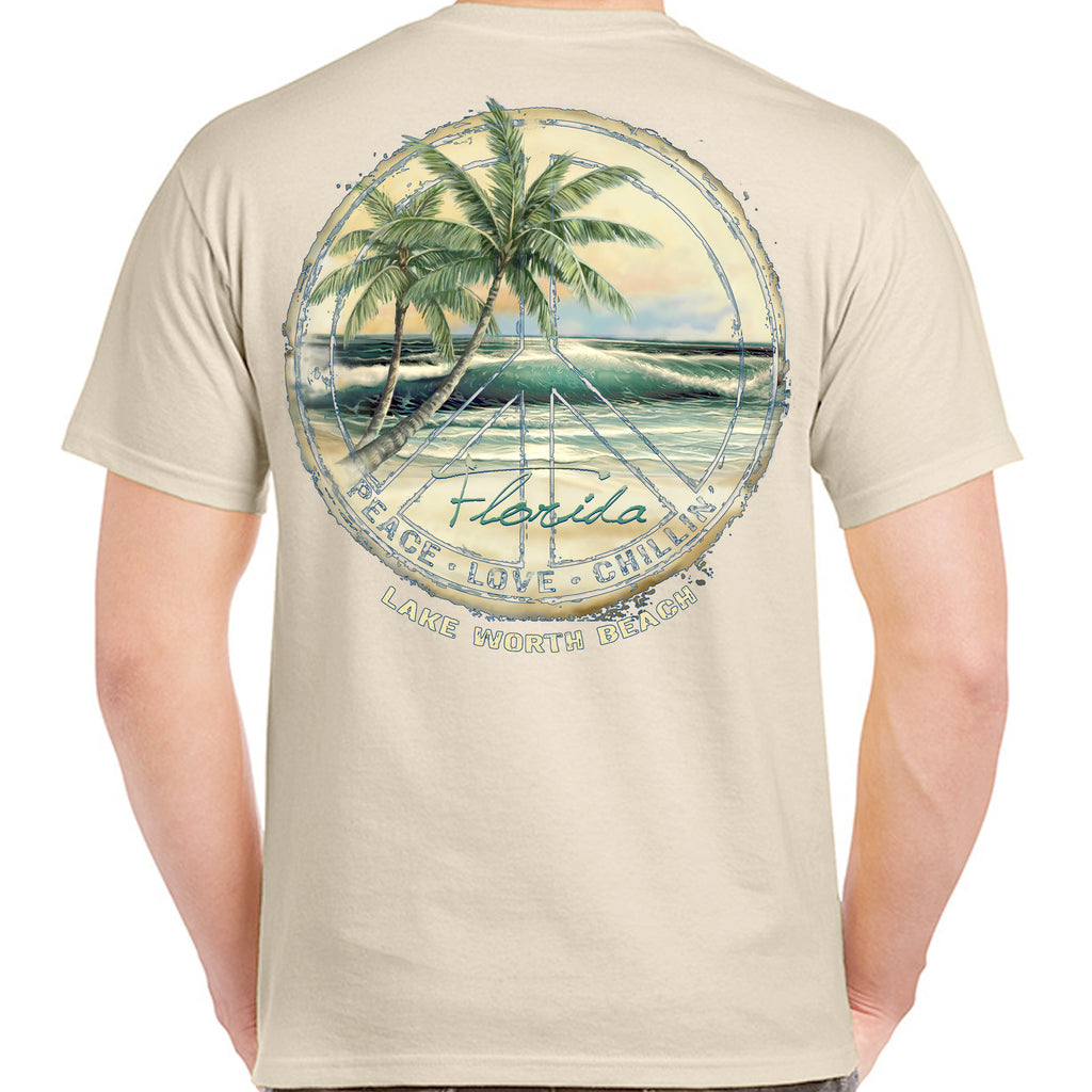Lake Worth Beach, FL Peace/Love/Chillin' T-Shirt