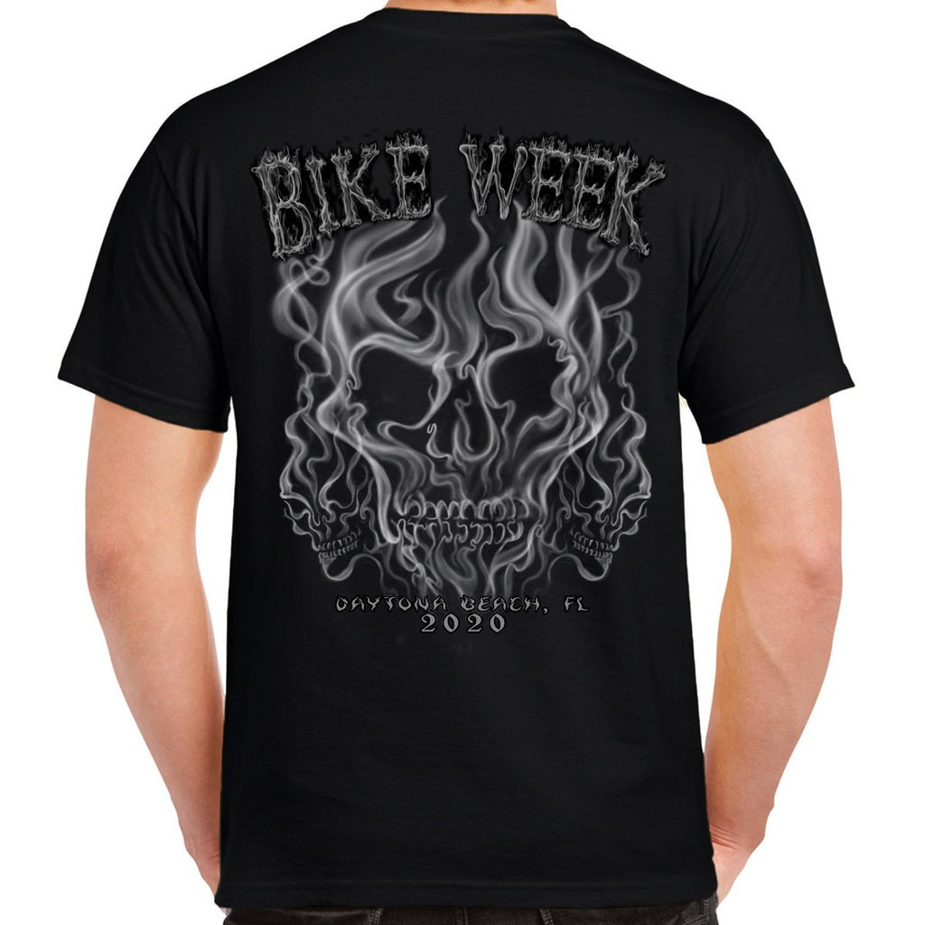 2020 Bike Week Daytona Beach Smoke Skull T-Shirt
