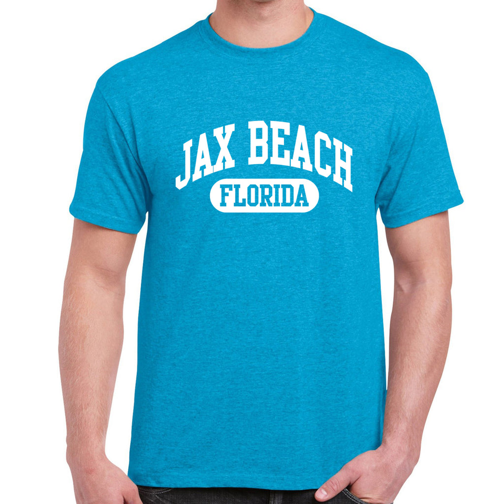 Jax Beach, FL Athletic Print T-Shirt