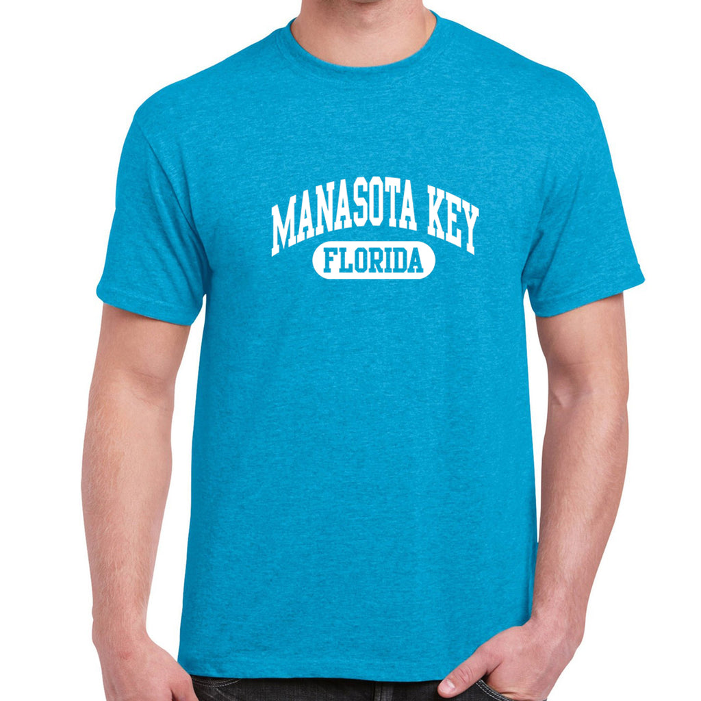 Manasota Key, FL Athletic Print T-Shirt