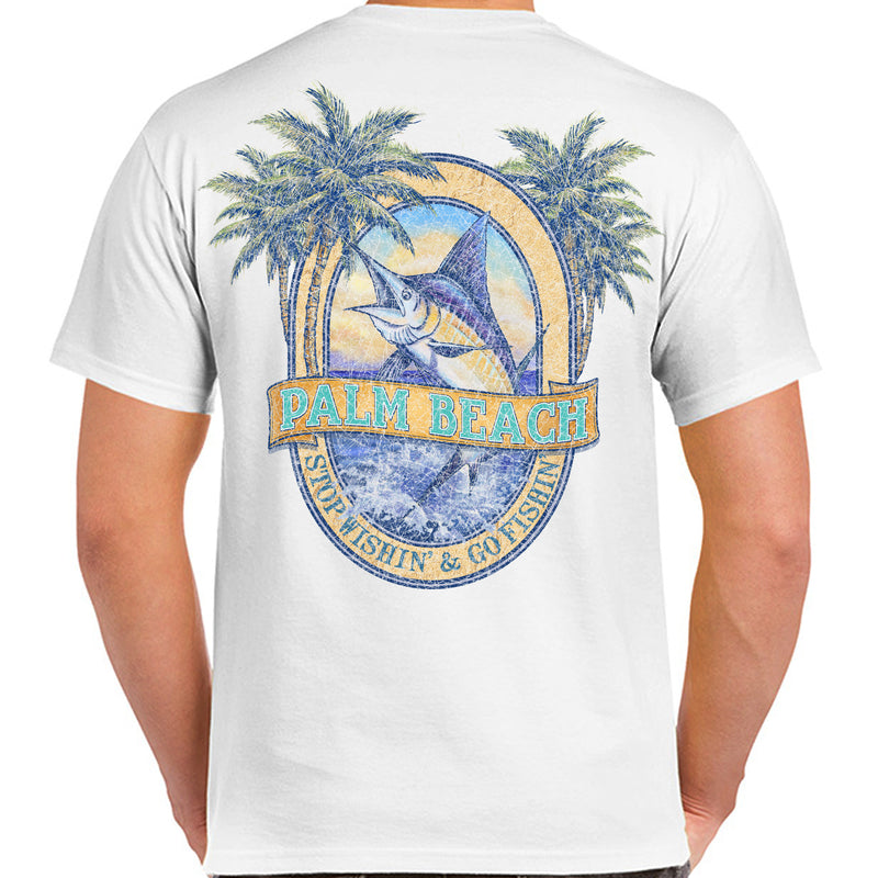 Palm Beach, FL Stop Wishin', Go Fishin' T-Shirt