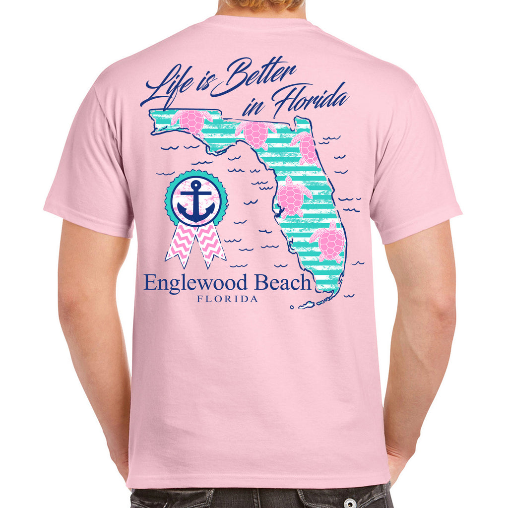 Englewood Beach, FL Life is Better in Florida T-Shirt
