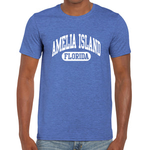 Amelia Island, FL Athletic Print T-Shirt