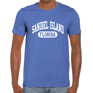 Sanibel Island, FL Athletic Print T-Shirt