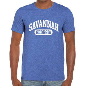 Savannah, GA Athletic Print T-Shirt