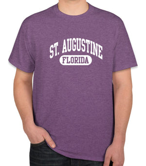 St. Augustine, FL Athletic Print T-Shirt