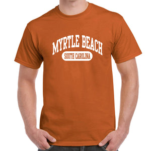 Myrtle Beach, SC Athletic Print T-Shirt