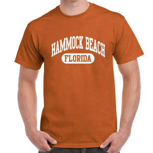 Hammock Beach, FL Athletic Print T-Shirt