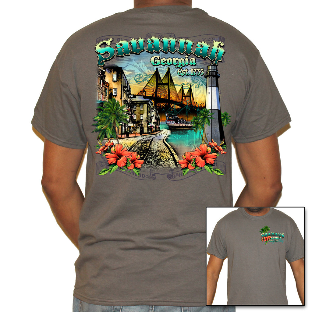 Savannah, GA Collage T-Shirt