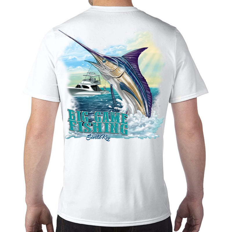 Siesta Key, FL Big Game Fishing Performance Tech T-Shirt