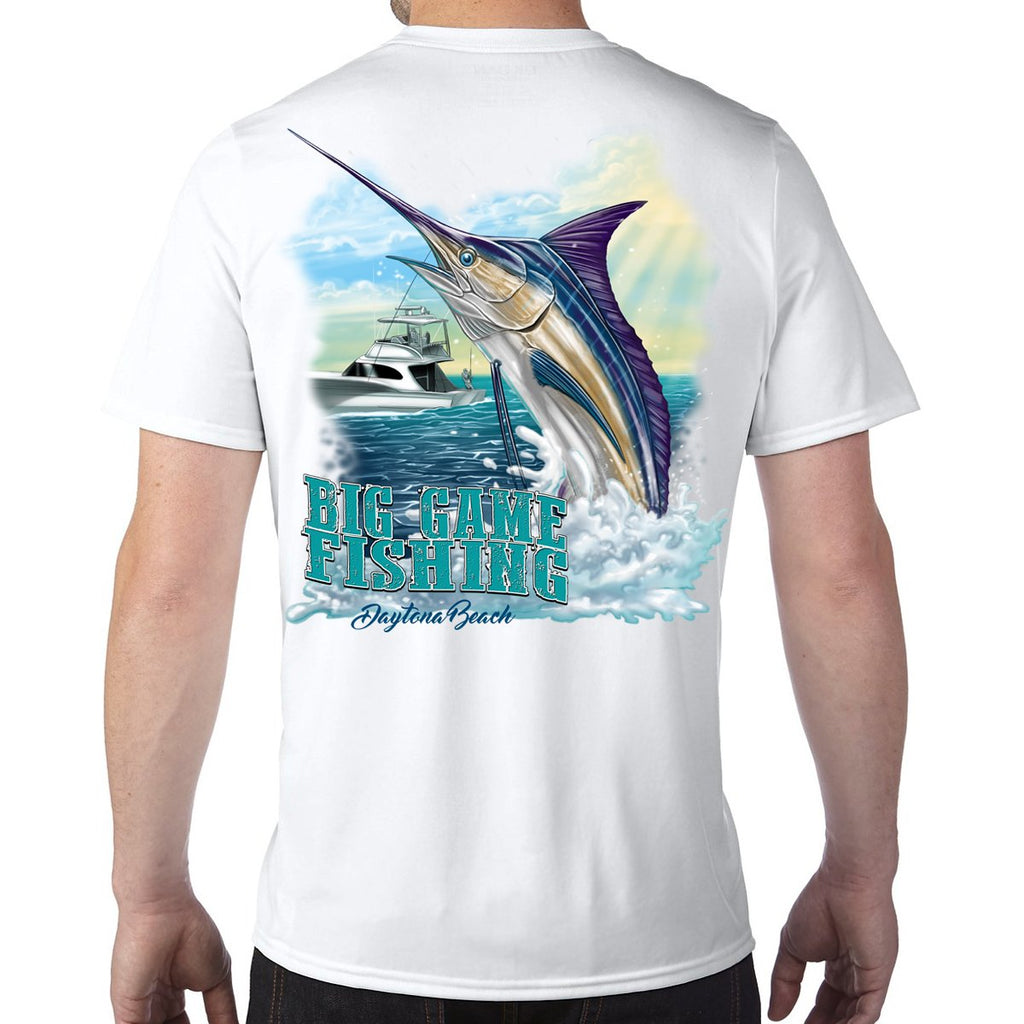 Daytona Beach, FL Big Game Fishing Performance Tech T-Shirt