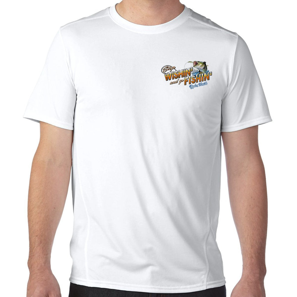 Naples, FL Stop Wishin', Go Fishin' Performance Tech T-Shirt