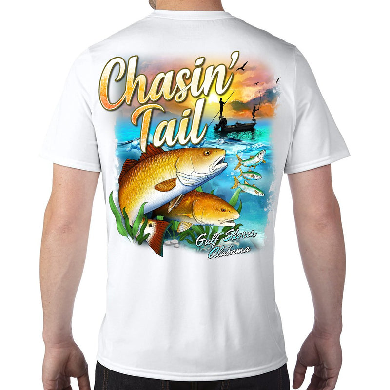 Gulf Shores, AL Chasin' Tail Performance Tech T-Shirt