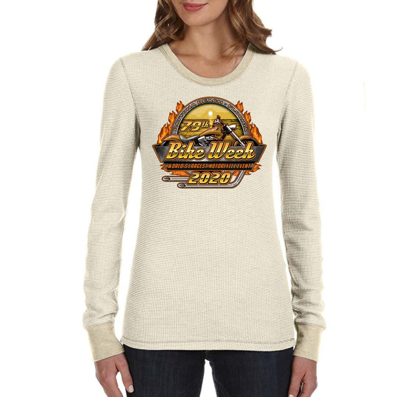 Ladies 2020 Bike Week Daytona Beach Official Logo Thermal