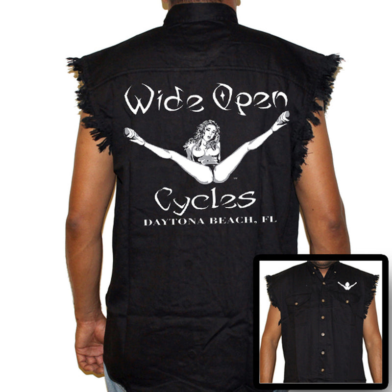 Wide Open Cycles Original Cut-Off Denim