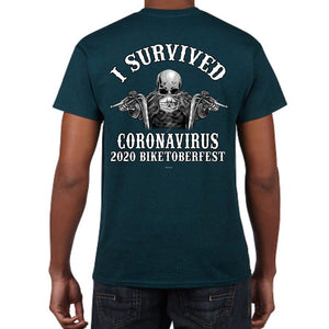 2020 Biketoberfest Daytona Beach I Survived T-Shirt