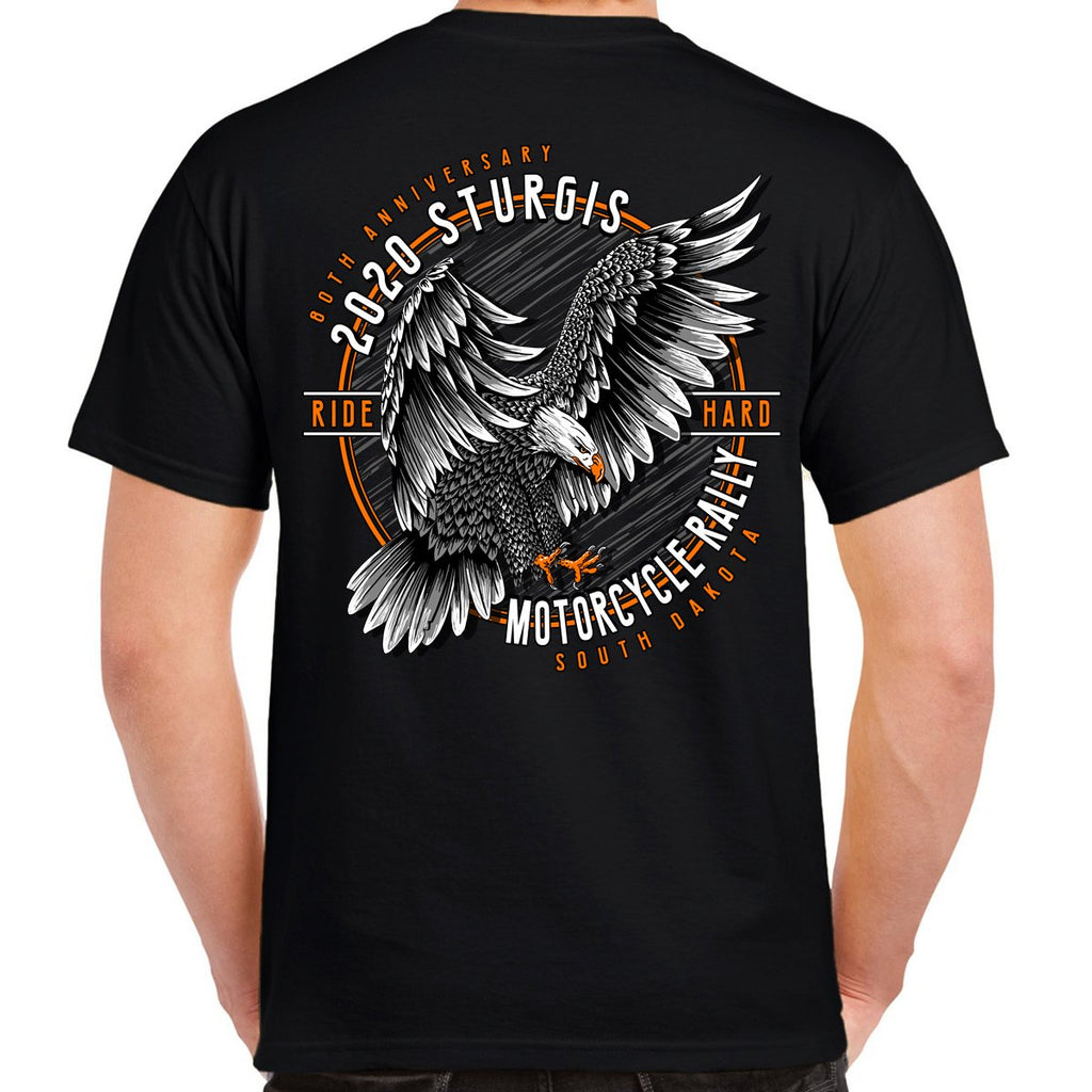 2020 Sturgis Motorcycle Rally Ride Hard Eagle Landing T-Shirt