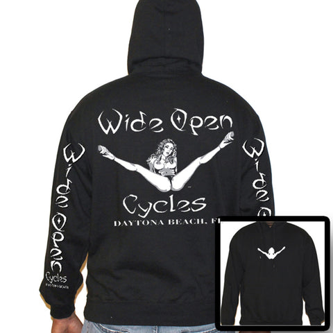 Wide Open Cycles Original Pullover Hoodie