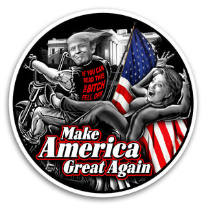 "Trump / Clinton Fell Off 4"" Sticker"