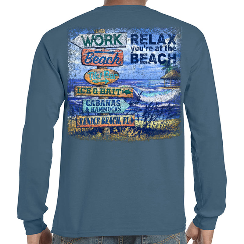 Venice Beach, FL Beach Destination Long Sleeve T-Shirt