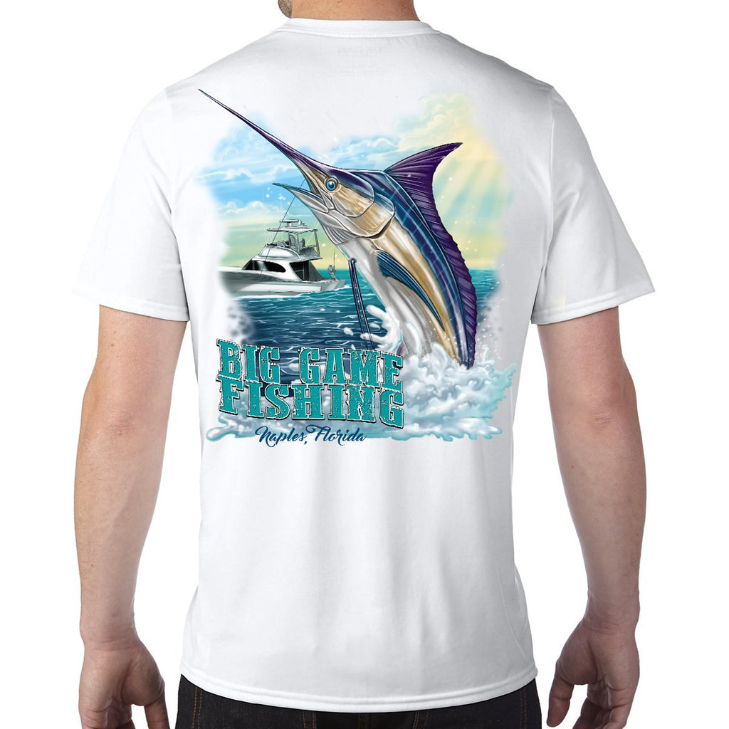 Naples, FL Big Game Fishing Performance Tech T-Shirt