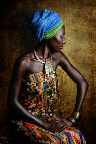 Resilient, Joana Choumali's portrait series of African women dressed in familial traditional attire.