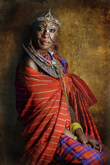 Resilient, Joana Choumali's series of African women in familial traditional attire.