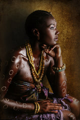 Resilient, Joana Choumali's portait series of African women dressed in familial traditional attire.