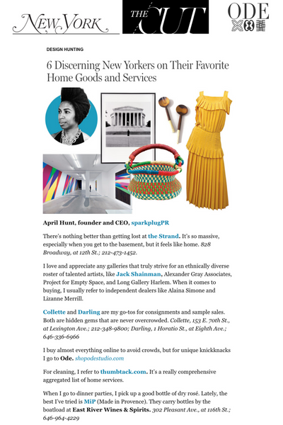 ODE Adjoa Basket and Olive Wood Serving Set in NYMag The Cut_April Hunt