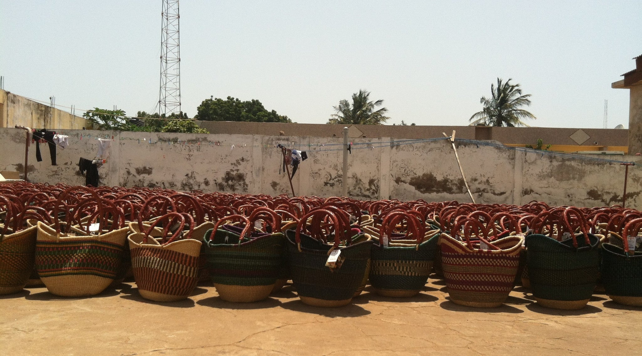 Bolga Baskets Drying in Ghana