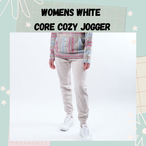 Women's White Cozy Jogger by Brooklyn Cloth