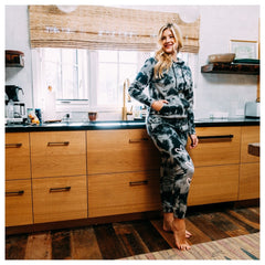 Women's Black Blessed Tie Dye set from Brooklyn Cloth