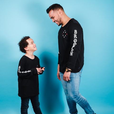 Dad and Son matching Long Sleeve graphic tee