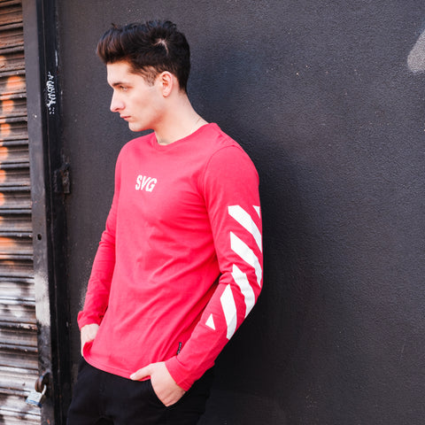 Long Sleeve Red Graphic tee