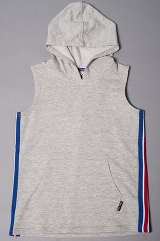 Heather Grey Side Stripe Hoodie