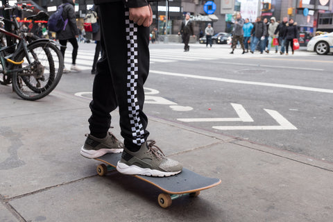 Black Checkered Joggers for boys at Brooklyn Cloth