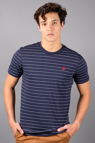 Navy Striped T-shirt for Men