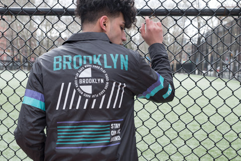 Shop the Brooklyn Coaches Jacket available today at Brooklyn Cloth
