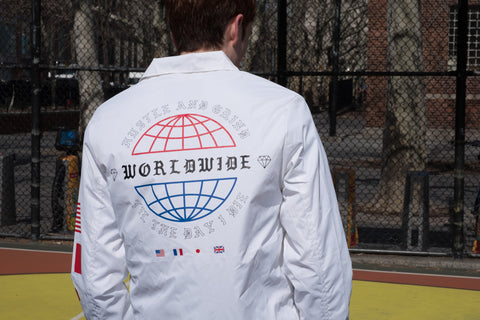 White Coach jacket for Men